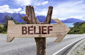 Belief  wooden sign — 图库照片