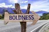 Boldness wooden sign — Stockfoto