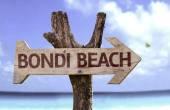 Bondi Beach wooden sign — Stock Photo