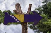 Bosnia and Herzegovina wooden sign — Stock Photo