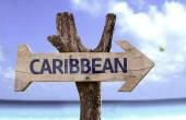 Caribbean wooden sign — Stock Photo
