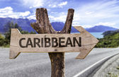 Caribbean wooden sign — Stock Photo