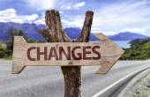 Changes wooden sign — Stockfoto