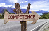Competence wooden sign — Stock Photo
