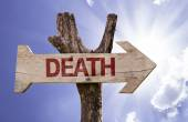 Death wooden sign — Stock Photo
