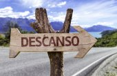Descanso wooden sign — Stockfoto