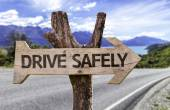 Drive Safely  wooden sign — Stock Photo