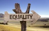 Равенство деревянный знак — Стоковое фото