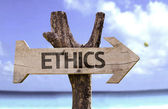 Ethics  wooden sign — Stock Photo