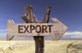 Export  wooden sign — Foto de Stock