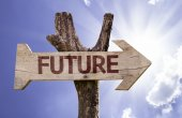 Futuro wooden sign — ストック写真