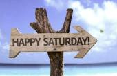 Happy Saturday   wooden sign — Stock Photo