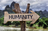 Humanity   wooden sign — Stock Photo
