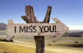 I Miss You!  wooden sign — Stock Photo
