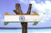 India wooden sign — Stock Photo