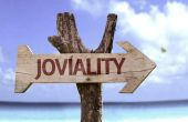 Joviality  wooden sign — Stock Photo