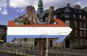 Luxembourg wooden sign — Stock Photo