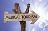 Medical Tourism wooden sign — Stok fotoğraf