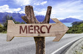 Mercy  wooden sign — Stock Photo