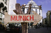 Munich wooden sign — Stockfoto