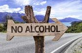 No alcohol wooden sign — Foto de Stock