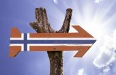 Norway wooden sign — Stock Photo