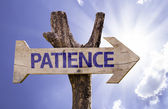 Patience wooden sign — Stock Photo