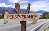 Perseverance wooden sign — Stock Photo