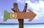 Portugal wooden sign — Foto de Stock