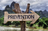 Prevention wooden sign — Stock Photo