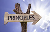 Principles wooden sign — Stock Photo