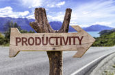 Productivity wooden sign — Stock Photo
