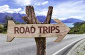 Road Trips wooden sign — Stock Photo
