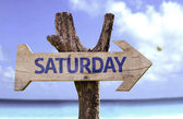 Saturday wooden sign — Stock Photo