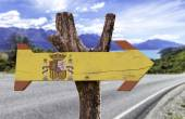 Spain wooden sign — Stock Photo
