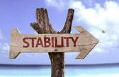 Stability  wooden sign — Stockfoto