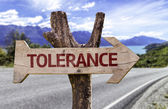 Tolerance  wooden sign — Stock Photo
