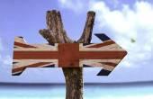 United Kingdom wooden sign — Stock Photo