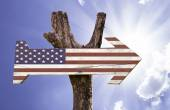 USA wooden sign — Stock Photo