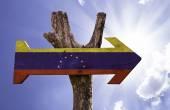 Venezuela wooden sign — Stock Photo