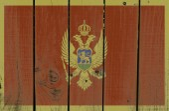 Montenegro flag — Stock Photo