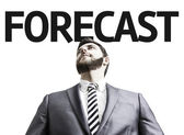Business man with the text Forecast in a concept image — Stock Photo