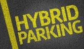 Parking space reserved for Hybrid shoppers — Stock Photo