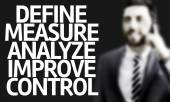 The Text Define Measure Analyze Improve Control — Stock Photo