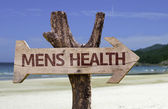 Mens Health     wooden sign — Stock Photo