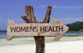 Placa de madeira de saúde das mulheres — Fotografia Stock
