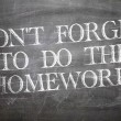 Don't Forget to Do The Homework written on blackboard — Stock Photo #59669679