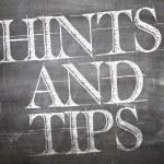 Hints and Tips written on blackboard — Stock Photo #59669741