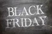 Black Friday written on blackboard — Stock Photo