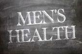 Mens Health written on board — Stock Photo